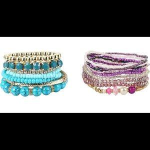 TURQUOISE Stackable Boho Multilayer Bead Bracelet